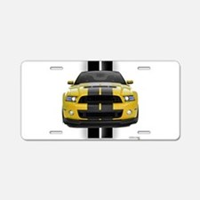 New Mustang GT Yellow Aluminum License Plate