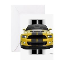 New Mustang GT Yellow Greeting Card