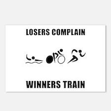 Triathlon Winners Train Postcards (Package of 8)