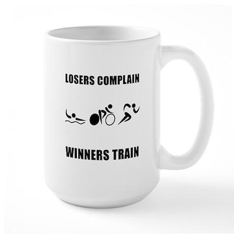 Triathlon Winners Train Large Mug