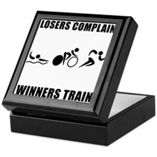 Triathlon Winners Train Keepsake Box