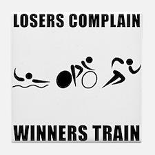 Triathlon Winners Train Tile Coaster