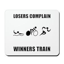 Triathlon Winners Train Mousepad