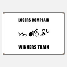 Triathlon Winners Train Banner