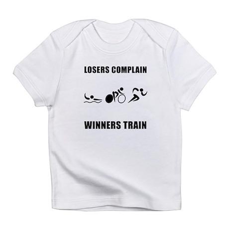 Triathlon Winners Train Infant T-Shirt