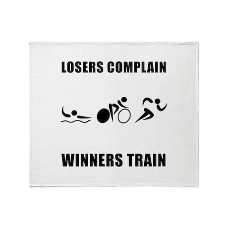 Triathlon Winners Train Throw Blanket