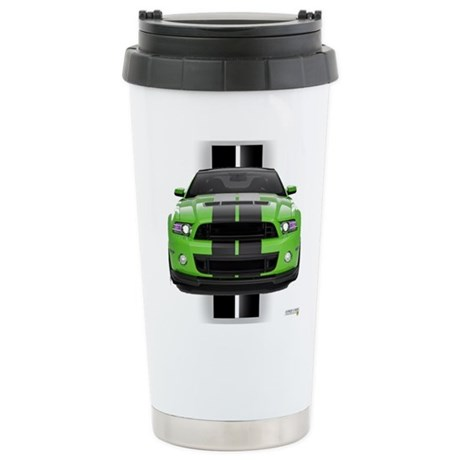 New Mustang Green Stainless Steel Travel Mug