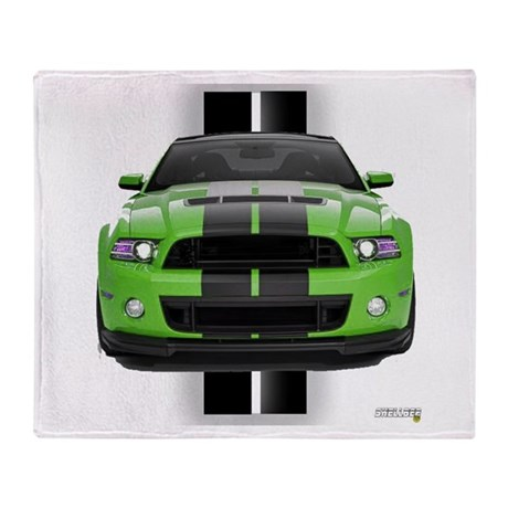 New Mustang Green Throw Blanket