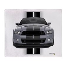 New Mustang GT Gray Throw Blanket
