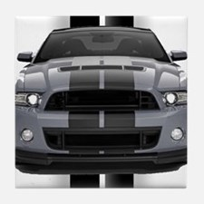 New Mustang GT Gray Tile Coaster