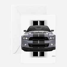 New Mustang GT Gray Greeting Card