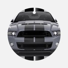 New Mustang GT Gray Ornament (Round)