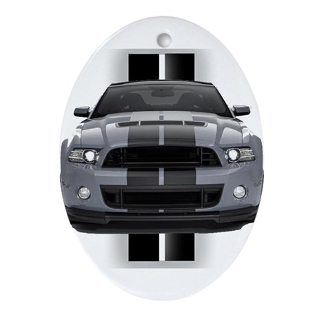 New Mustang GT Gray Ornament (Oval)