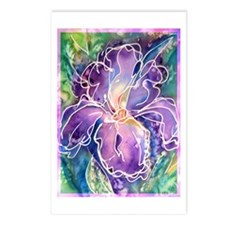 Iris, floral, art, Postcards (Package of 8)