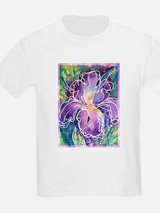 Iris, floral, art, T-Shirt