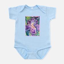 Iris, floral, art, Infant Bodysuit