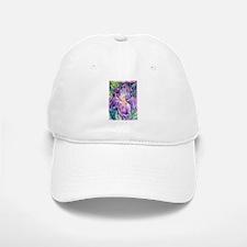 Iris, floral, art, Baseball Baseball Cap