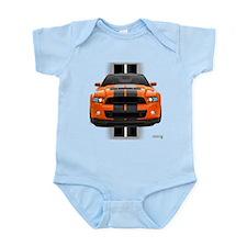 New Mustang GT Orange Infant Bodysuit