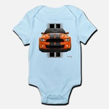 New Mustang GT Orange Infant Bodysuit