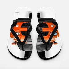 New Mustang GT Orange Flip Flops