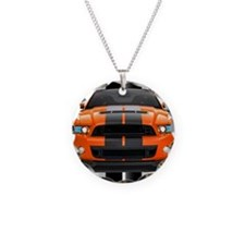 New Mustang GT Orange Necklace