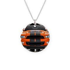 New Mustang GT Orange Necklace