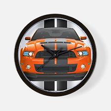 New Mustang GT Orange Wall Clock