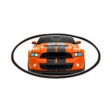 New Mustang GT Orange Patches