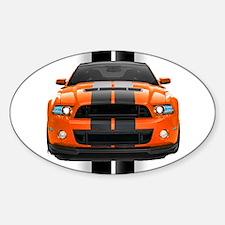 New Mustang GT Orange Decal