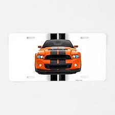 New Mustang GT Orange Aluminum License Plate