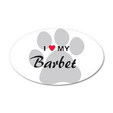 I Love My Barbet 38.5 x 24.5 Oval Wall Peel
