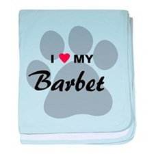 I Love My Barbet baby blanket