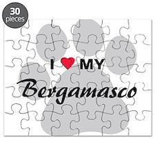 I Love My Bergamasco Puzzle