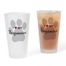 I Love My Bergamasco Drinking Glass