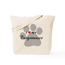 I Love My Bergamasco Tote Bag