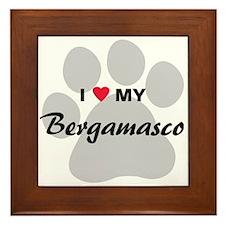 I Love My Bergamasco Framed Tile