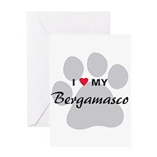 I Love My Bergamasco Greeting Card