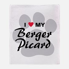 I Love My Berger Picard Throw Blanket