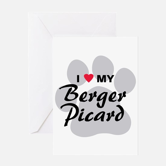 I Love My Berger Picard Greeting Card