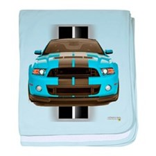 New Mustang Blue baby blanket