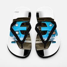New Mustang Blue Flip Flops