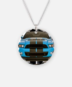 New Mustang Blue Necklace