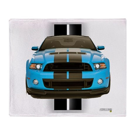 New Mustang Blue Throw Blanket