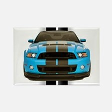 New Mustang Blue Rectangle Magnet