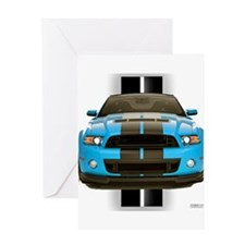 New Mustang Blue Greeting Card