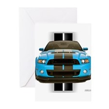 New Mustang Blue Greeting Cards (Pk of 10)