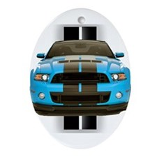 New Mustang Blue Ornament (Oval)