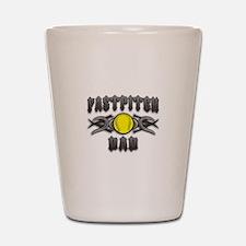 Fastpitch Tribal Dad Shot Glass