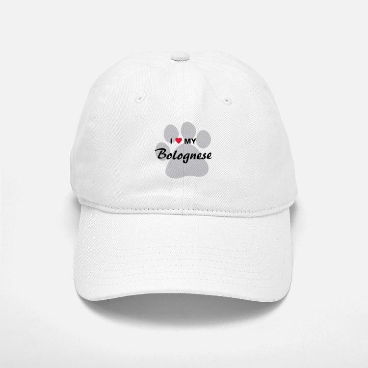 I Love My Bolognese Baseball Baseball Cap