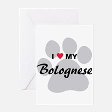 I Love My Bolognese Greeting Card